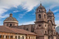 La Compania de Jesus Company av Jesus Church i Cusco, Peru Arkivbilder