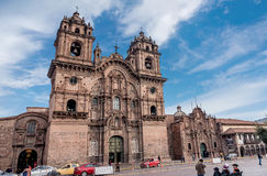 La Compania de Jesus  Company of Jesus  Church in Cusco, Peru Royalty Free Stock Photo