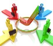 La competencia es un objetivo común Imagen de archivo libre de regalías