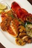 La composición 1 del menú del restaurante del beautifull Fotografía de archivo libre de regalías