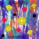 La composición abstracta del fondo, con los movimientos, salpica y geom stock de ilustración