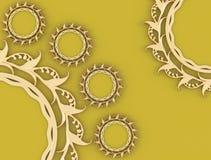 La composición agradable, oro adornó marcos Fotografía de archivo libre de regalías