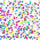 La composición de círculos multicolores en el fondo blanco ilustración del vector