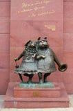 La composición de la escultura persigue la boda en Krasnodar, fotografía de archivo