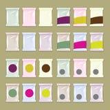 La composición de la muestra embala para el diseño de empaquetado con la hoja o el plast Foto de archivo libre de regalías