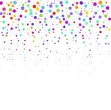 La composición de puntos multicolores en el fondo blanco stock de ilustración