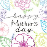 La composición de un día de madre feliz ilustración del vector