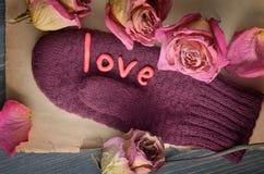 La composición del día de tarjeta del día de San Valentín Imagen de archivo