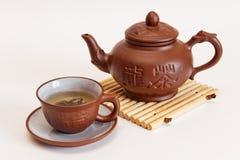 La composición del té verde Foto de archivo libre de regalías