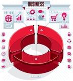 La composition conceptuelle en infographics créatif, trois sectored 3d Image libre de droits