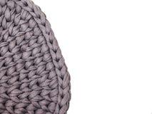 La composition confortable, coton de plan rapproché tricotent l'atmosphère de couverture, chaude et confortable Tricotez le fond images libres de droits