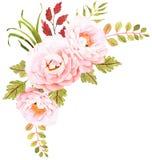 La composition décorative pour épouser l'invitation et font gagner la date Photos libres de droits