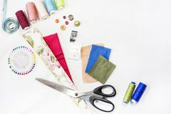 La composition des éléments pour la couture images libres de droits