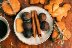 La composition des biscuits de gingembre, Images libres de droits