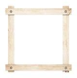 La composition des planches en bois légères a vissé le cadre Photos stock