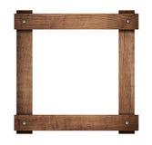 La composition des planches en bois a vissé le cadre Photo stock