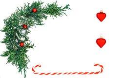 La composition des vacances de Noël Cadeaux de Noël Copiez l'espace image stock