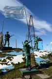 La composition sculpturale les îles des Malvinas appartiennent en Argentine à la base militaire de la marine argentine photos stock