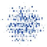 La composizione dai cerchi blu sui precedenti bianchi illustrazione di stock