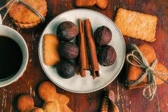 La composizione dei biscotti dello zenzero, Fotografia Stock Libera da Diritti