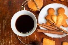 La composizione dei biscotti dello zenzero, Immagine Stock Libera da Diritti