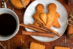 La composizione dei biscotti dello zenzero, Immagini Stock Libere da Diritti