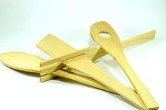 La composizione delle spatole di legno della cucina Fotografia Stock