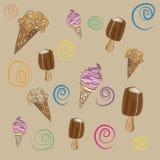 La composizione di gelato immagini stock