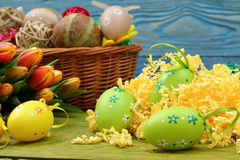 La composizione di Pasqua Immagine Stock