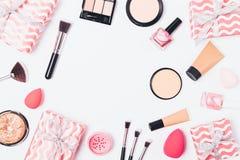 La composizione rosa festiva di arrossisce fotografia stock