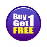La compra 1 consigue 1 libre Foto de archivo libre de regalías