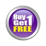 La compra 1 consigue 1 libre Fotografía de archivo libre de regalías