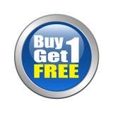 La compra 1 consigue 1 libre Imagen de archivo libre de regalías