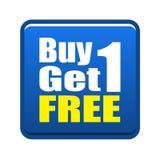 La compra 1 consigue 1 libre Imagen de archivo
