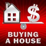 La compra de una casa exhibe el ejemplo de Real Estate 3d ilustración del vector