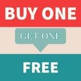 La compra una consigue uno libre imágenes de archivo libres de regalías
