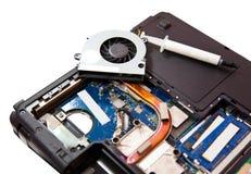 La computadora portátil limpió Imágenes de archivo libres de regalías
