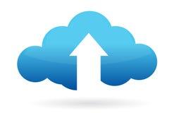 La computazione della nuvola si carica illustrazione vettoriale