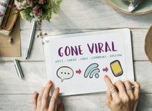 La comunicación en línea del medios establecimiento de una red social conecta concepto foto de archivo libre de regalías