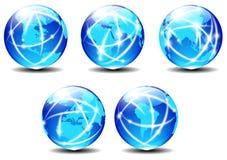 Dati del pianeta della comunicazione globale del mondo di tecnologia royalty illustrazione gratis
