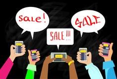 La comunicazione dello Smart Phone della mano invia il messaggio di chiacchierata Immagine Stock Libera da Diritti
