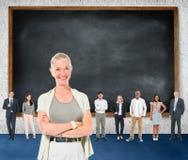 La comunicazione di Leardership coopera Team Concept Immagini Stock