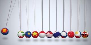 La comunità economica di ASEAN Immagine Stock Libera da Diritti