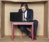 La concentración en el trabajo es esencial Imagen de archivo libre de regalías
