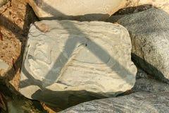 La conception abstraite a formé par érosion sur une roche photo libre de droits