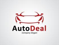 La conception automatique de logo de concessionnaire automobile avec le concept folâtre la silhouette de véhicule Image libre de droits
