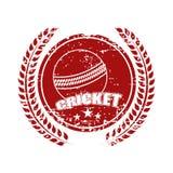La conception collante avec la boule de cricket et le laurier tressent illustration stock