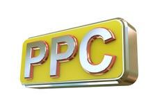la conception 3d du PPC - payez par clic Photographie stock libre de droits