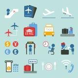 La conception d'icône d'aéroport a placé II Photographie stock