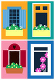 La conception d'Infographic des fenêtres pour le magasin, le site et autre conçoivent Fichier de vecteur d'ENV 10 Images stock